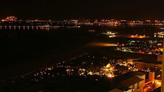 Mövenpick Hotel Jumeirah Beach: Ночной вид на Пальму Джумейра.
