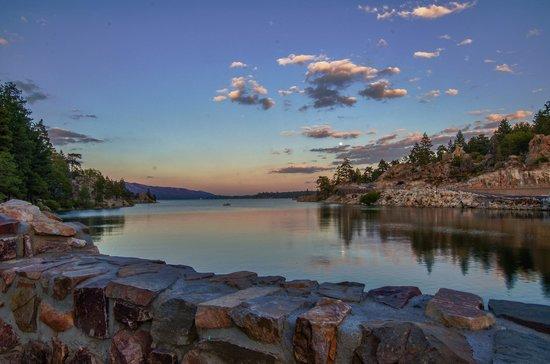 Big Bear Region, CA: View of Big Bear Lake from the North Shore