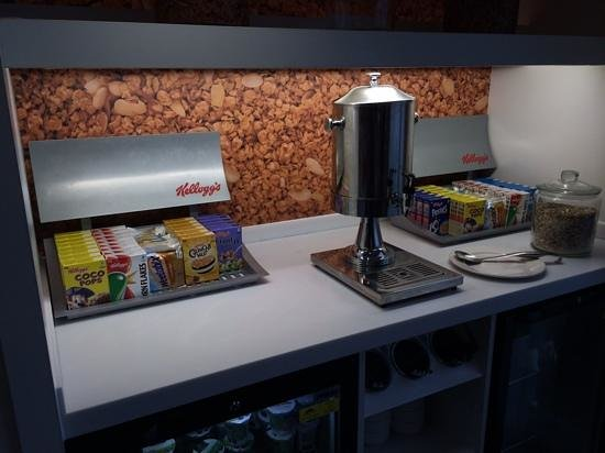Hampton by Hilton Exeter Airport: cereal bar (but not as we know it)