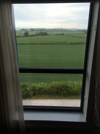 Hampton by Hilton Exeter Airport: View towards the runway (looking north)