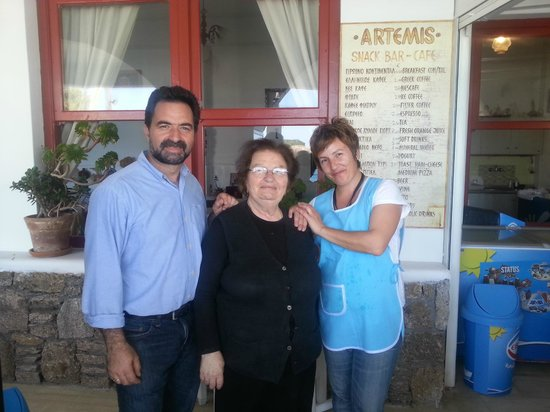 Artemis Hotel: Antonio, Mama and Agi, lovely people