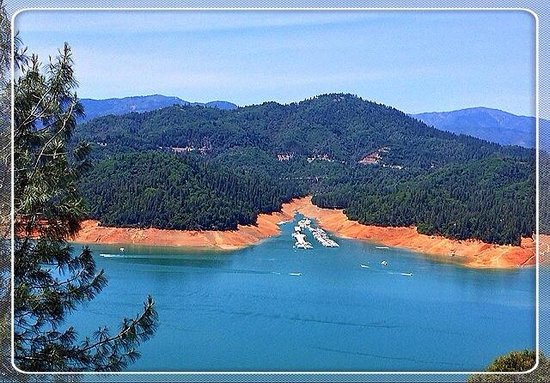 Lake Shasta Caverns : Lake Shasta seen from around the cavern entrance