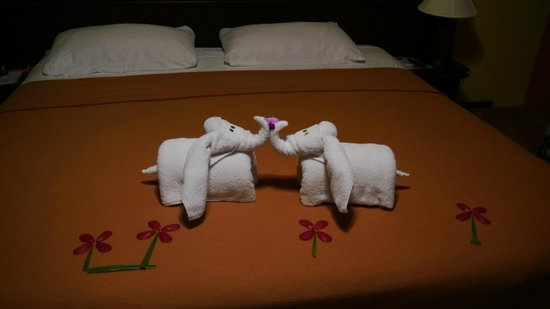 Volcano Lodge & Springs: detalle toallas