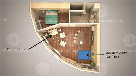 Around the Sea Rotating House: Bird's eye view of your condo/suite (4 identical suites)