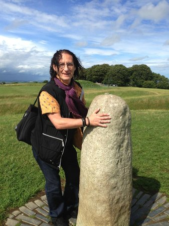 Hill of Tara (Temair) : The holy stone at Hill of Tara - touch and hold for a while