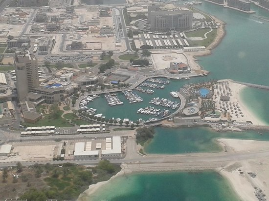 InterContinental Abu Dhabi: Hotel complex photographed from the Etihad Towers