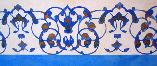 Hotel Medio Mundo : hand painted stencils