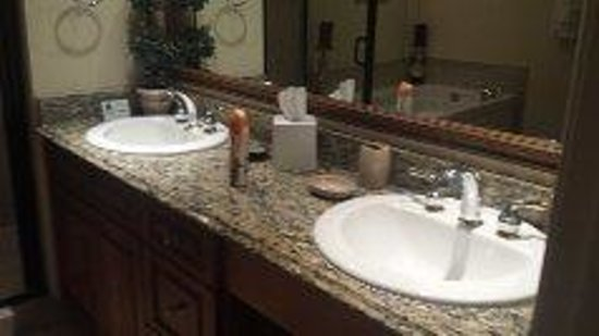 Mar Vista Grande: granite his and her bathroom sinks /counters
