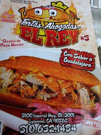 Tortas Ahogadas El Rey: Menu cover