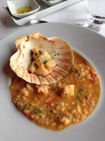 Barao de Fladgate: Monkfish & scallop risotto