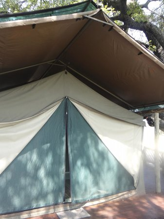 Pom Pom Camp: Our Tent on the Delta