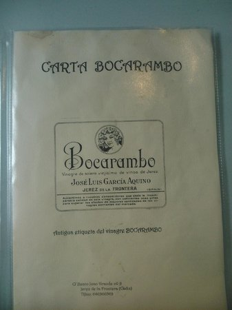 Bar Bocarambo: Carta