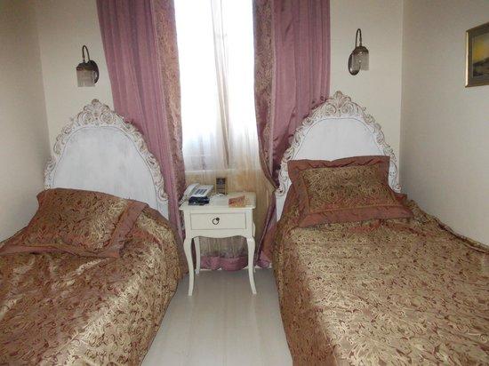 Celal Sultan Hotel : двухместный эконом. очень маленький. Вид во двор