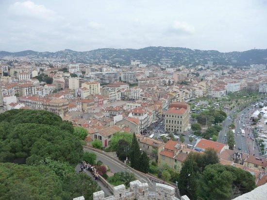 Le Suquet : vue sur Cannes