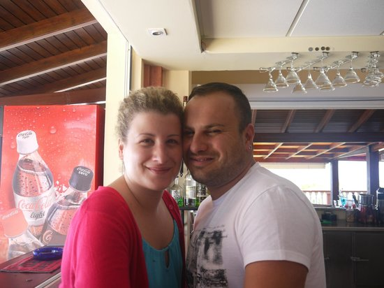 Romanza Hotel: Spiros and Fiance ( Andreas's sister)