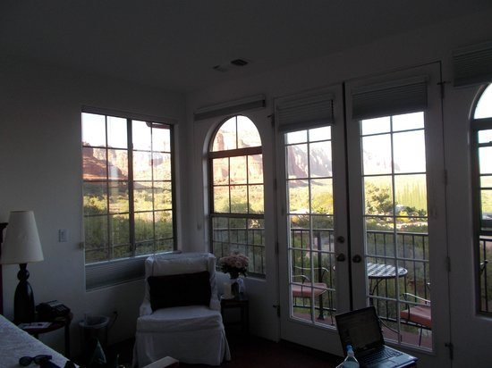 The Penrose B&B: Mariposa room and the view