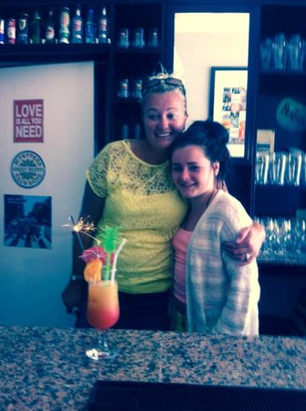 Abbey Road Bar: paisley and her lanzarote best friend,owner charlotte Xxx