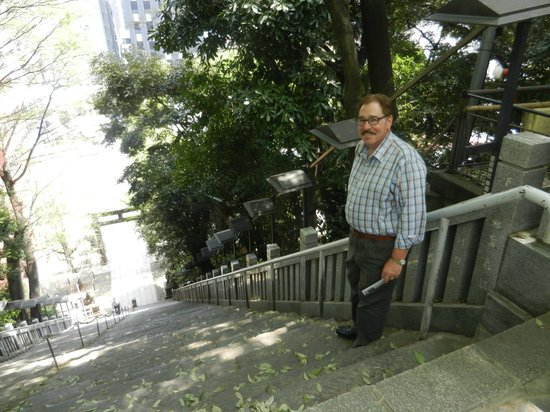 Atago Shrine : Ready for descent on the stairs