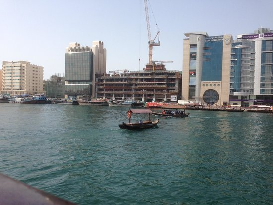 Dubai Creek : The old & the new. The old water taxi's are a way to travel from one side of the creek to the ot