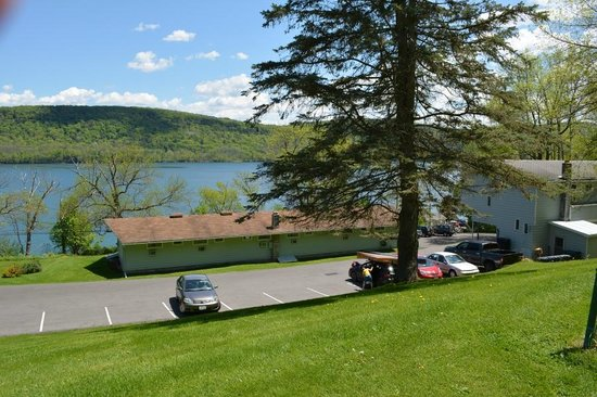 Terrace Motor Inn: View from pool and bbq area