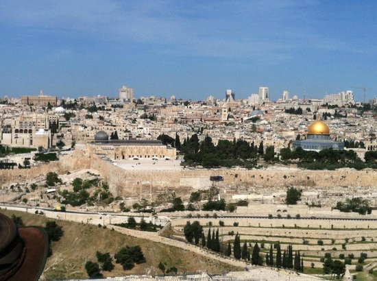 Mont des Oliviers : Gorgeous view from top of Mt of Olives