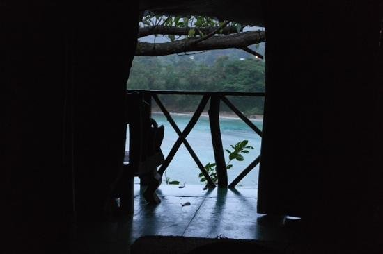 Great Huts: The view from the bed in Fig Tree