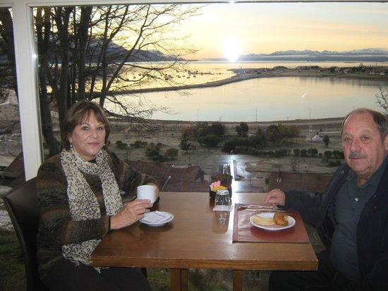 Hotel Las Lengas : a vista no café da manhã