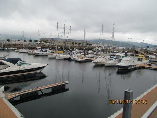 Hotel Bahia de Vigo: vista da janela do apartamento