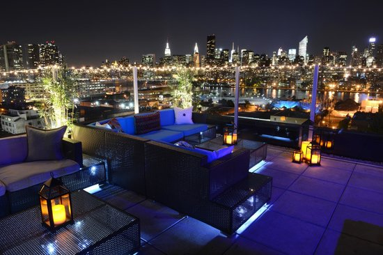 z rooftop at night picture of z nyc hotel long island city