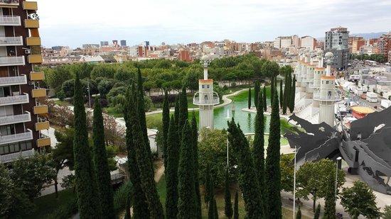 Expo Hotel Barcelona : Vue depuis le balcon