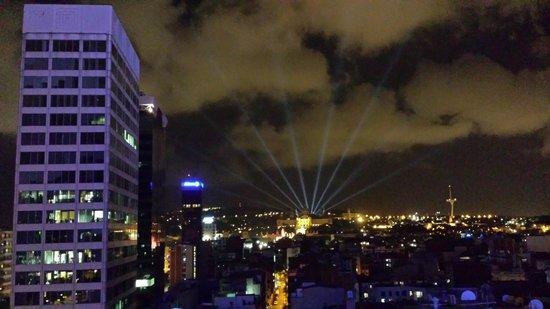 Expo Hotel Barcelona: Vue depuis la terrasse