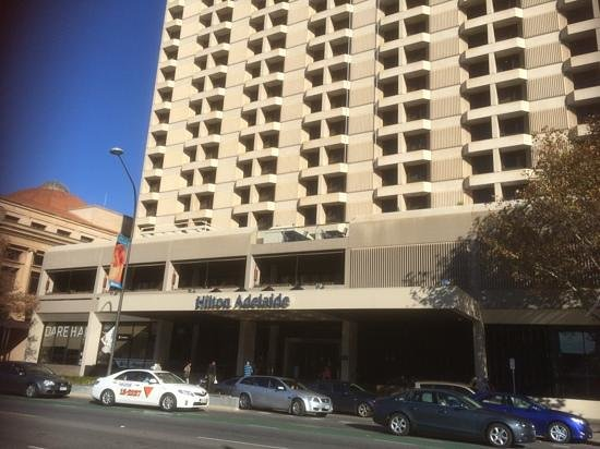 Hilton Adelaide: from the tram stop