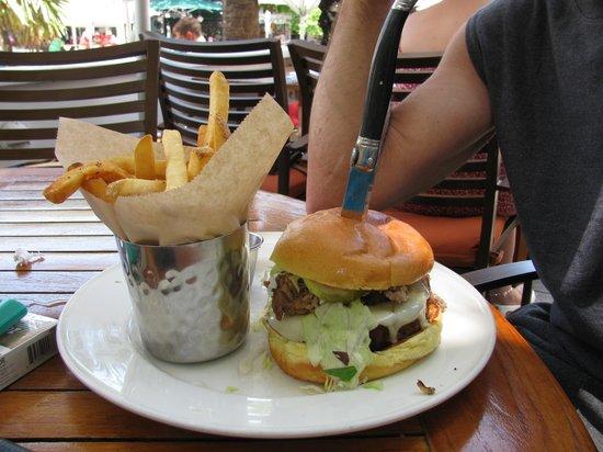 Hard Rock Cafe: 1/2 lb burger with the cuban on top