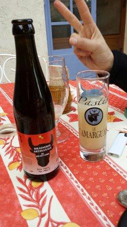 AUBERGE DU MAS D'ALIVON : Pastis local et bière artisanale régionale .