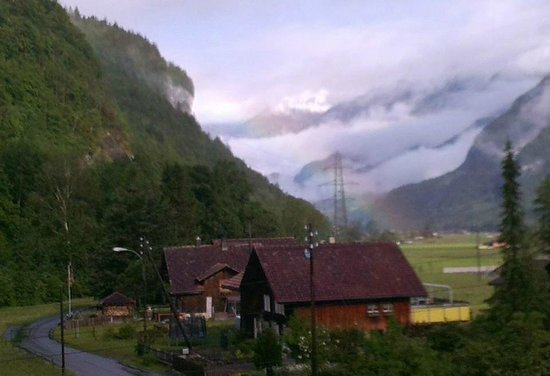 Chalet Zum Steg: The first morning we saw a beautiful rainbow just outside the balcony.