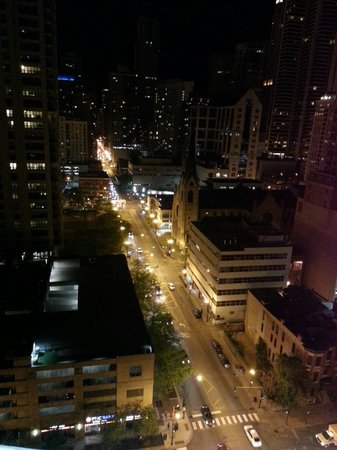 dana hotel and spa: View at night from 20th floor