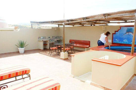 Worldmark Coral Baja : Our own private sunning area with jacuzzi and eating area