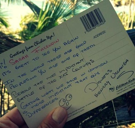 Happy Shuttle Cancun: Cute postcard from driver!