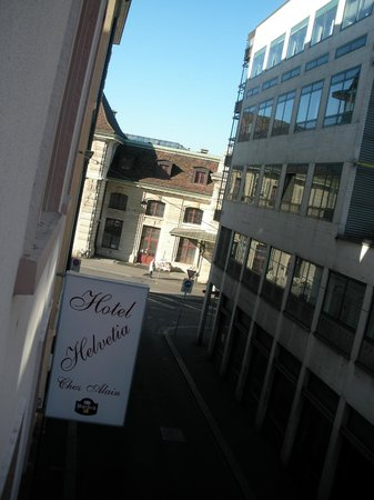 Hotel Helvetia : View from the room (left side)