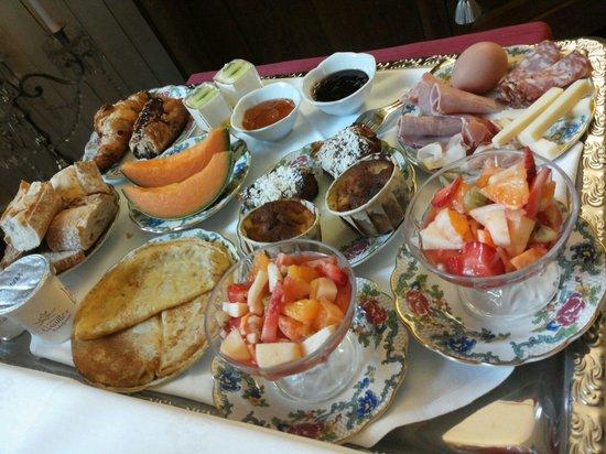 Het ontbijt in Domaine de Moulin Mer