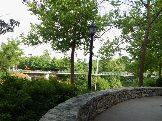 Falls Park on the Reedy: Suspension Bridge