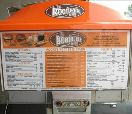 menu picture of the rootbeer stand oglesby tripadvisor