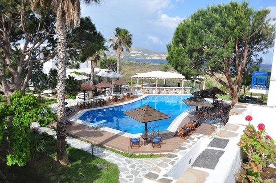 Alkyoni Beach Hotel: Vue de la porte de chambre