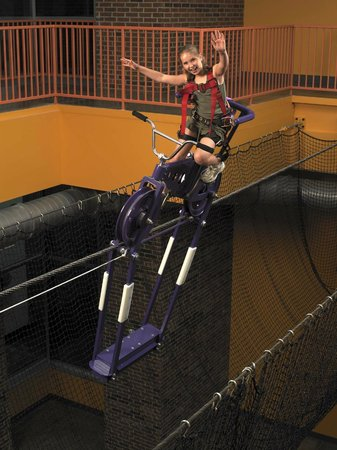 Discovery Center of Springfield: HighWire Bike - Ride a bike 3 stories high.