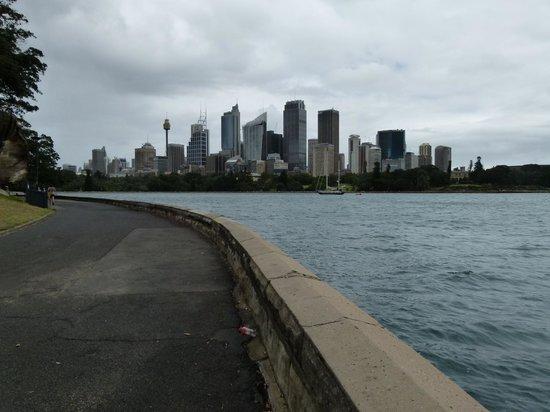 Promenade de l'opéra aux jardins botaniques : looking back to city skyline