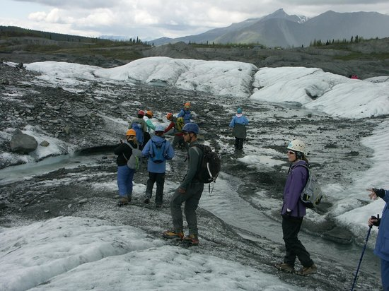 Party of 10 of Matanuska Glacier Guided by Danny and Reece of MICA Guides