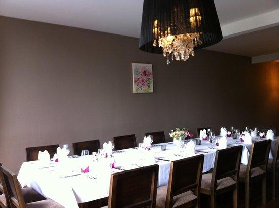 La Table: notre salle à l'étage