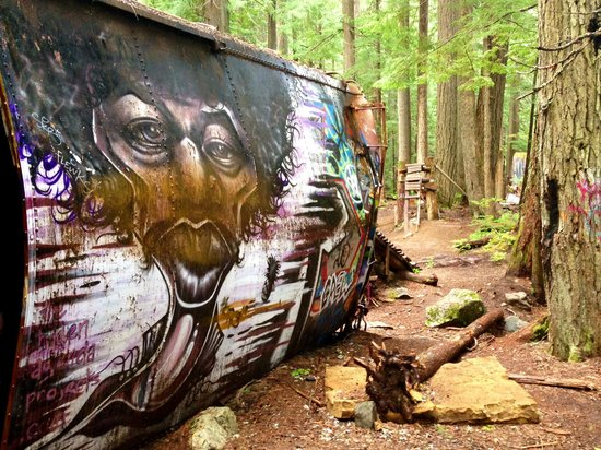 The Whistler Train Wreck Trail: Beautiful Artwork