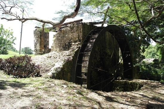Seville Great House and Heritage Park : Sugarcane factory waterwheel