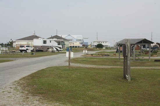 Cape Hatteras KOA Resort: View of our campsite #228 looking towards the club house- we were in the middle of the campgroun